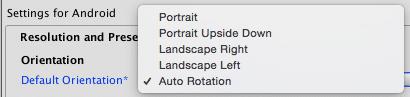 Unity Auto Rotation
