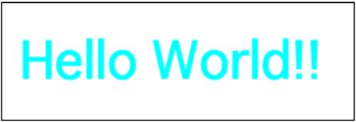 monospaceフォントを使ったHello World