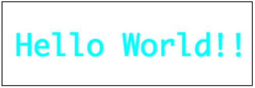 Osaka-MonoフォントのHello World
