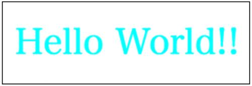 フォントを調整したHello World