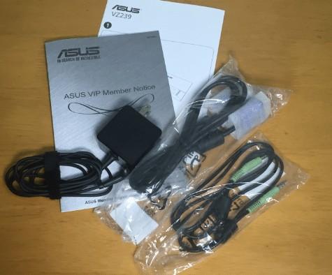 ASUS モニターの付属品