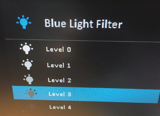 ASUS Blue Light Filterの調整