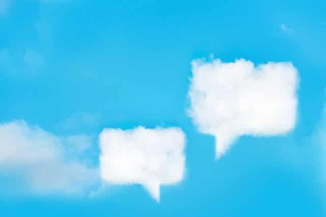 通知の形をした雲