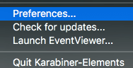 Karabiner-ElementsのPreferences
