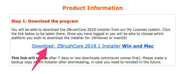 ZBrush Core ダウンロード