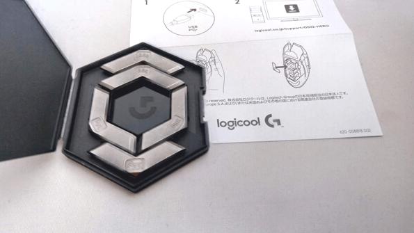 Logicool G502 Heroの重さ調整用のおもり