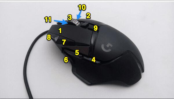 Logicool G502 Heroのボタンの数