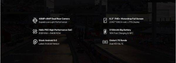 UMIDIGI F1 Playのスペック