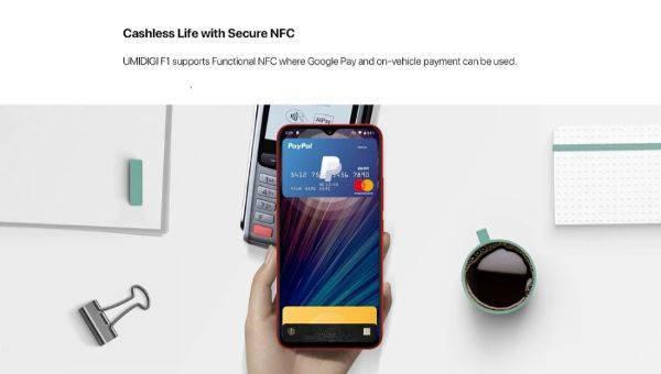NFCを搭載しているUMIDIGI F1 Play