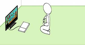 【GIMP】テレビやPCに画像が映っているようなイラストを描いてみた