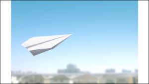 紙飛行機と風景