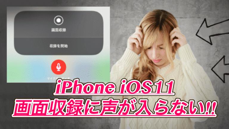 【iPhone】iOS11の画面収録で声が入らない時の対処法!アプリ不要