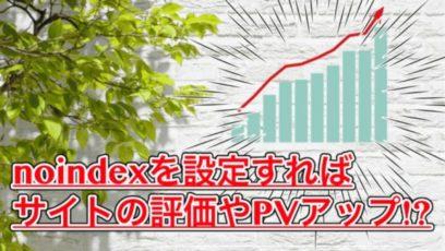 【noindexとは】正しい使い方でサイトの評価とPVがアップするかも