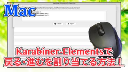 【Sierra対応】Karabiner-Elementsで5ボタンマウスに戻る・進むを割り当てる方法!Qtuoマウス対応