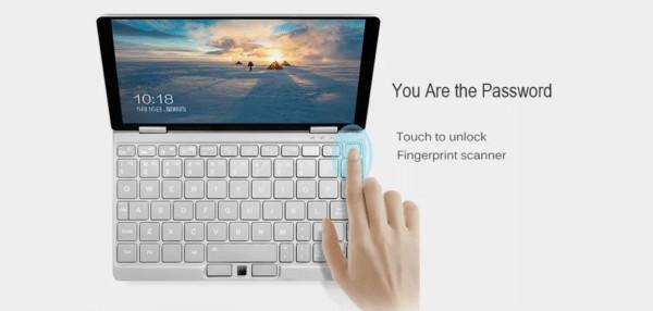One Netbook One Mix 3の指紋認証パネル