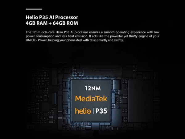 UMIDIGI POWER CPU・メモリ・ストレージ