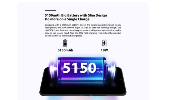 UMIDIGI POWERのバッテリー容量