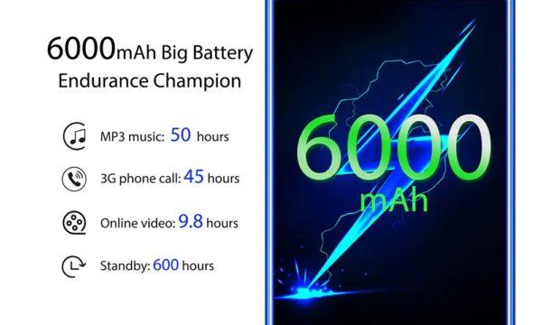 OUKITEL K9のバッテリー容量