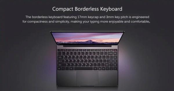 CHUWI AeroBookのキーボード