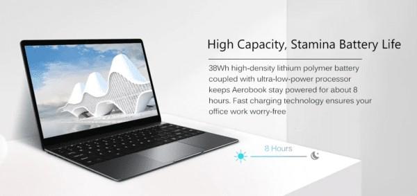 CHUWI AeroBookのバッテリー