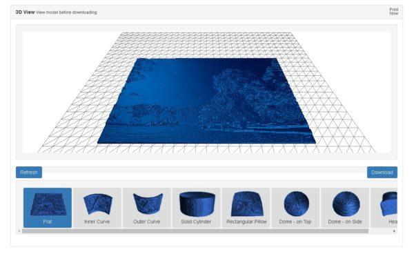 Image to Lithophane 3D View