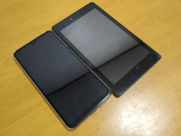 OUKITEL K9 タブレットとの比較