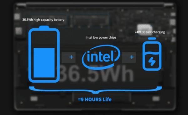 CHUWI LapBook Plus バッテリー容量