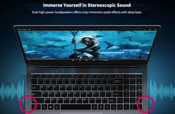 CHUWI LapBook Plus デュアルスピーカー