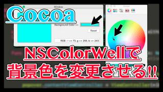 【Swift】NSColorWellでビューの色を変更する使い方