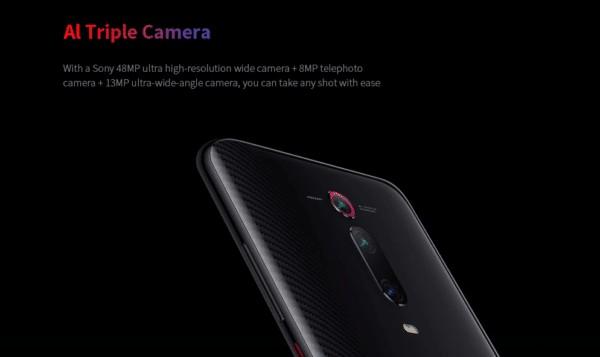 Xiaomi Mi 9T トリプルカメラ