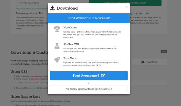 Font Awesome バージョン 4.7.0